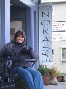 """Nora's Table"" is actually a restaurant in Hood River, Oregon!"