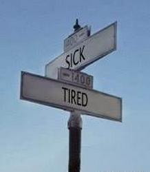 Crossroads of sick and tired