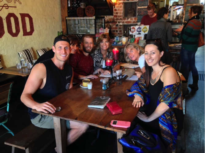 Group at restaurant in Perth